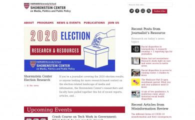 http://shorensteincenter.org screenshot
