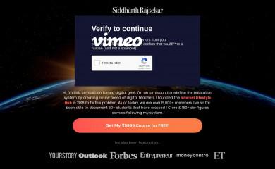 http://siddharthrajsekar.com screenshot
