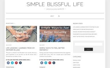 http://simpleblissfullife.com screenshot