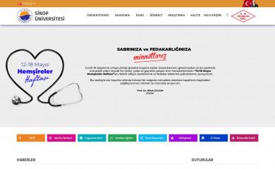 sinop.edu.tr screenshot