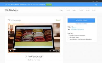 SiteOrigin North screenshot