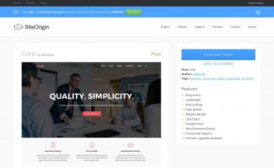 SiteOrigin Corp screenshot