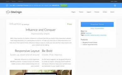 Influence screenshot