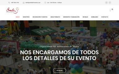smile507eventos.com screenshot