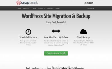 snapcreek.com screenshot