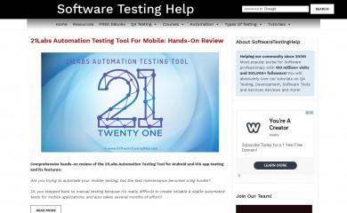 softwaretestinghelp.com screenshot