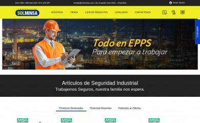 http://solminsa.com screenshot