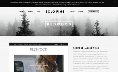 http://solopine.com/theme/redwood screenshot