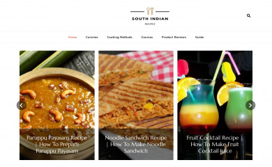 southindianrecipes.in screenshot