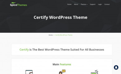 https://spicethemes.com/certify-wordpress-theme screenshot