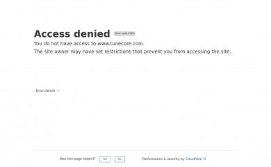 http://tunecore.com screenshot