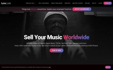 tunecore.com.au screenshot