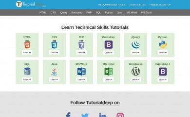 tutorialdeep.com screenshot