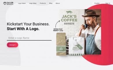 http://tailorbrands.com screenshot