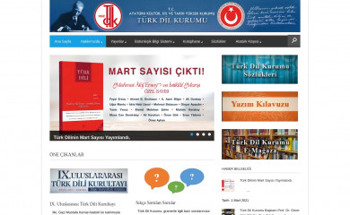 tdk.gov.tr screenshot