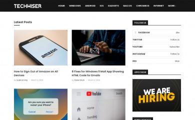 techwiser.com screenshot