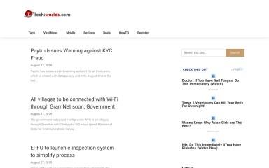 http://techiworlds.com screenshot