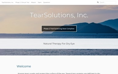 tearsolutions.com screenshot