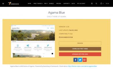 http://www.theme-vision.com/agama-blue/ screenshot