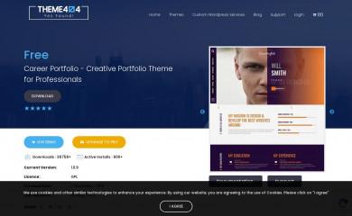https://theme404.com/downloads/career-portfolio/ screenshot