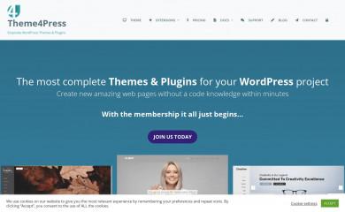 https://theme4press.com/alora-multipurpose-wordpress-theme/ screenshot