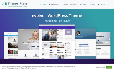 https://theme4press.com/evolve-multipurpose-wordpress-theme/ screenshot