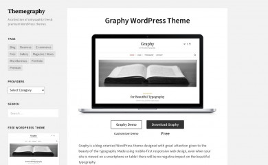 http://themegraphy.com/wordpress-themes/graphy/ screenshot