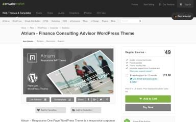 Atrium - Responsive One Page WordPress Theme screenshot