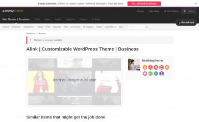 http://themeforest.net/item/alink-customizable-wordpress-theme/15175004 screenshot