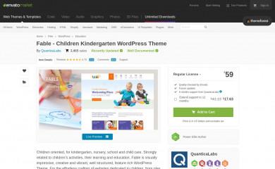 Fable - Children Kindergarten WordPress Theme screenshot