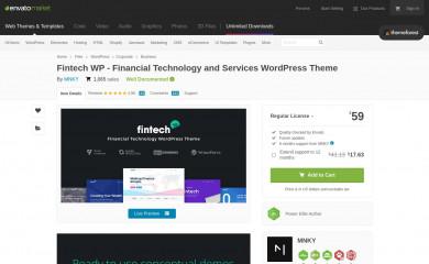 Fintech WP screenshot