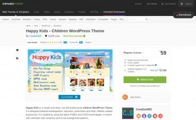http://themeforest.net/item/happy-kids-children-wordpress-theme/4452871 screenshot