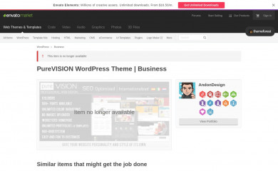 http://themeforest.net/item/purevision-wordpress-theme/156538 screenshot