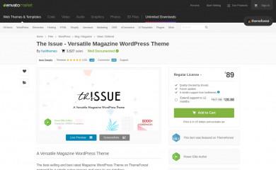 The Issue screenshot