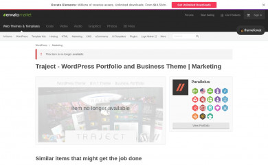 http://themeforest.net/item/traject-wordpress-portfolio-and-business-theme/116671 screenshot