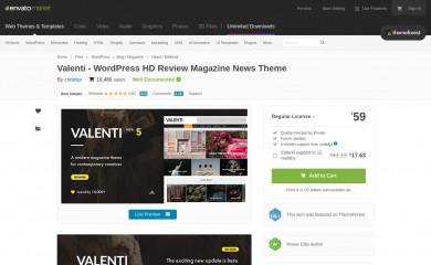 https://themeforest.net/item/valenti-wordpress-hd-review-magazine-news-theme/5888961 screenshot