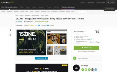 https://themeforest.net/item/15zine-hd-magazine-newspaper-wordpress-theme/10802918 screenshot