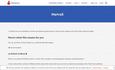 Metro CreativeX screenshot