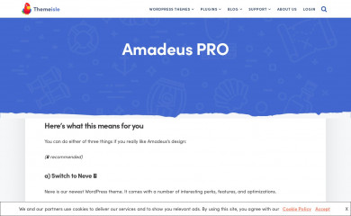 http://themeisle.com/themes/amadeus screenshot