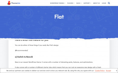 https://themeisle.com/themes/flat/ screenshot