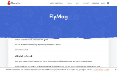http://themeisle.com/themes/flymag/ screenshot