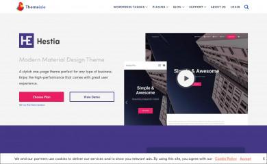 https://themeisle.com/themes/hestia-pro/ screenshot