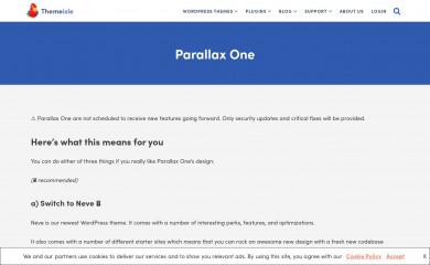 Parallax One screenshot