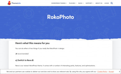 https://themeisle.com/themes/rokophoto/ screenshot