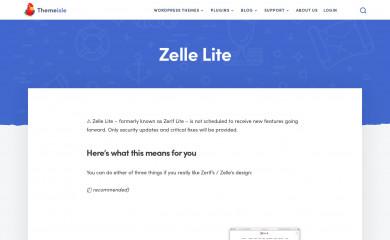 Zerif Lite screenshot