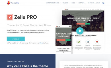 https://themeisle.com/themes/zerif-pro-one-page-wordpress-theme/ screenshot