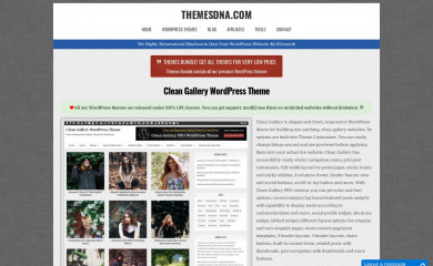 https://themesdna.com/clean-gallery-wordpress-theme/ screenshot