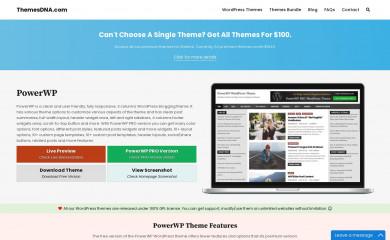 PowerWP screenshot