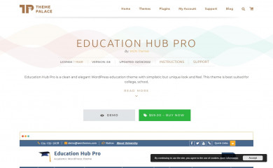 https://themepalace.com/downloads/education-hub-pro/ screenshot