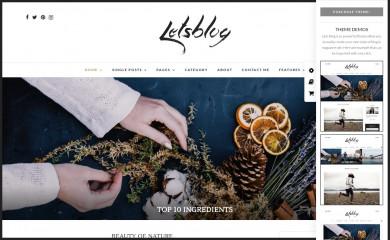 Lets Blog screenshot